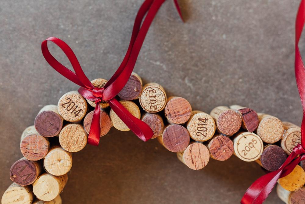Ruban décoratif du coeur en bouchons pour mariage